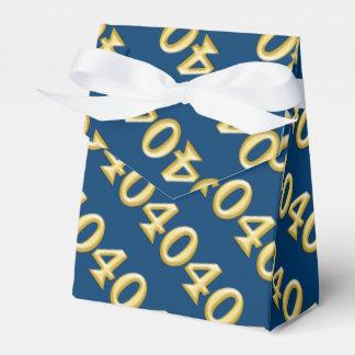 40 y cumpleaños azul fabuloso del oro caja para regalos de fiestas