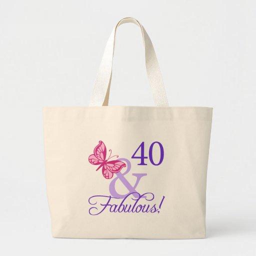 40 y cumpleaños fabuloso bolsas