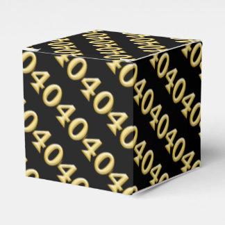 40 y cumpleaños negro fabuloso del oro caja para regalo de boda