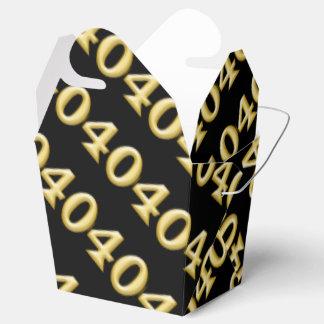 40 y cumpleaños negro fabuloso del oro cajas para detalles de boda