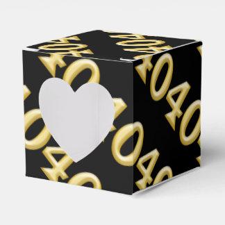 40 y cumpleaños negro fabuloso del oro cajas para regalos de fiestas