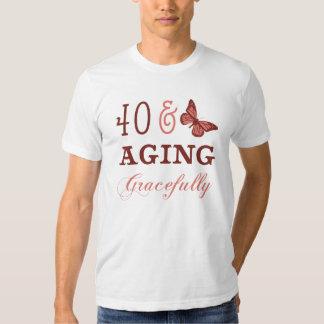 40 y envejecimiento agraciado remera