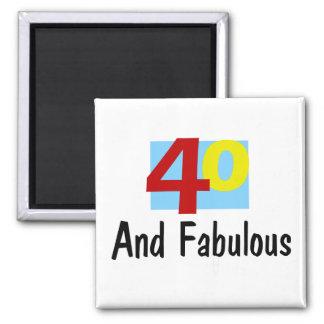 40 y fabuloso imán de frigorifico