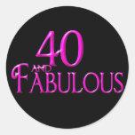 40 y fabuloso pegatinas redondas
