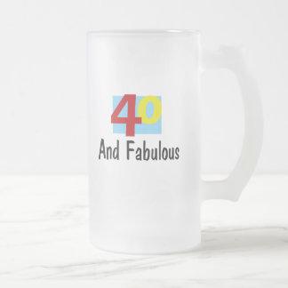 40 y fabuloso taza
