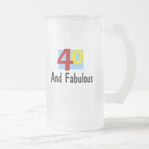 40 y fabuloso taza de cristal