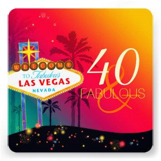 40 y invitaciones fabulosas de la fiesta de cumple