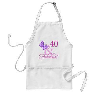 40 y regalos de cumpleaños fabulosos (ciruelo) delantal