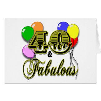 40 y regalos y ropa fabulosos de cumpleaños felicitacion