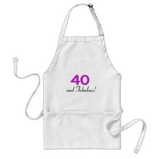 40 y rosa fabuloso delantal
