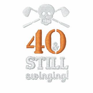 40 y todavía balanceo - camisa del cumpleaños del camiseta polo
