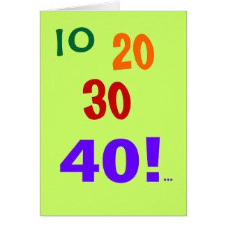 ¡40 y todavía el considerar - 40 a tarjeta de cum