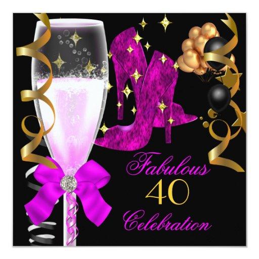 40 y zapatos púrpuras rosados fabulosos del comunicado personalizado
