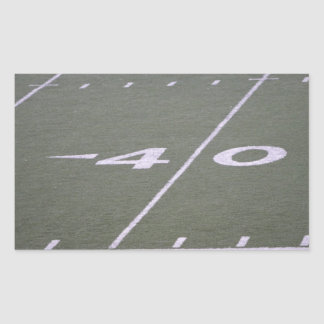 40 Yard Line Football Field Rectangle Sticker