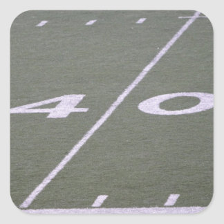 40 Yard Line Football Field Stickers