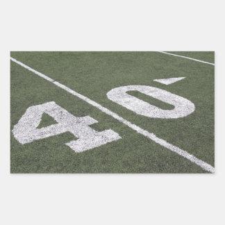 40 Yard Line Sticker