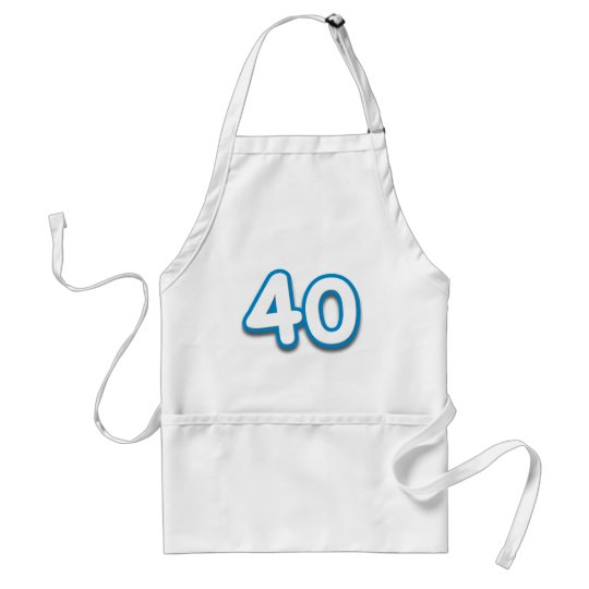 40 Year Birthday or Anniversary - Add Text Adult Apron