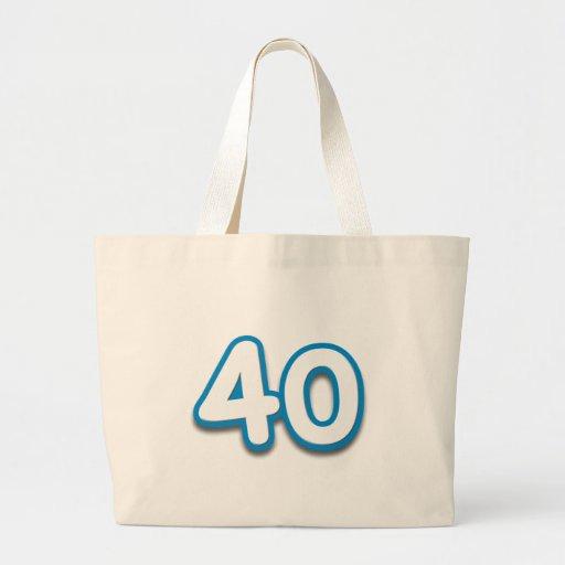 40 Year Birthday or Anniversary - Add Text Bag