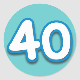 40 Year Birthday or Anniversary - Add Text Classic Round Sticker