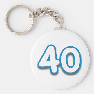 40 Year Birthday or Anniversary - Add Text Keychain