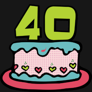 40 Year Old Birthday Cake T Shirt