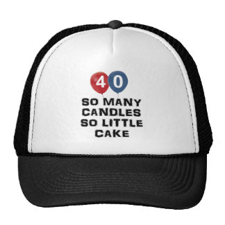 40 year old candle designs trucker hat