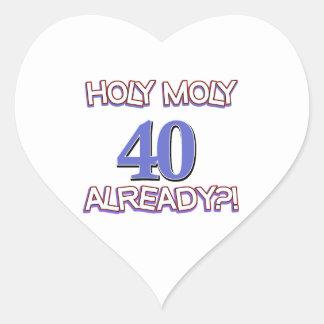 40 year old designs heart sticker
