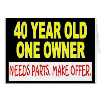 40 Year Old One Owner Needs Parts Make Offer Card