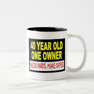 40 Year Old One Owner Needs Parts Make Offer Two-Tone Coffee Mug