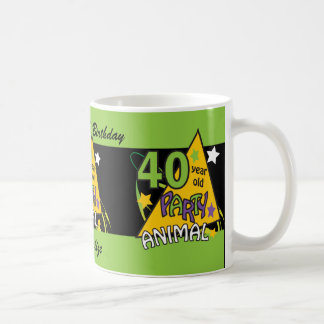 40 Year Old Party Animal | 40th Birthday Coffee Mug