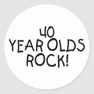 40 Year Olds Rock Classic Round Sticker