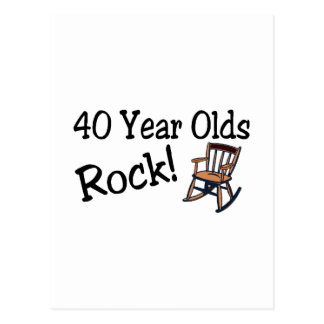 40 Year Olds Rock (Rocking Chair) Postcard