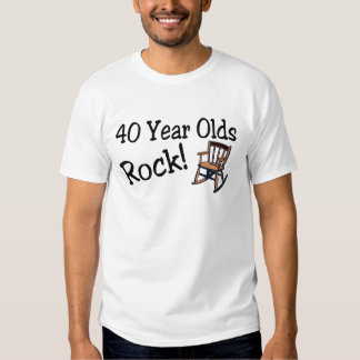 40 Year Olds Rock (Rocking Chair) T-Shirt
