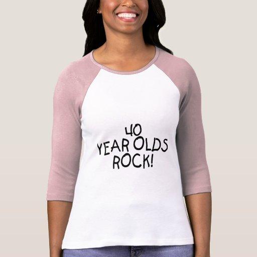 40 Year Olds Rock Tshirt