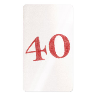 40 years anniversary Double-Sided standard business cards (Pack of 100)