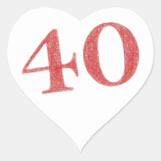40 years anniversary heart sticker