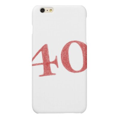 40 years anniversary matte iPhone 6 plus case
