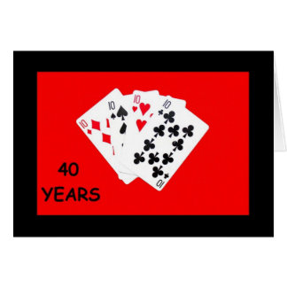40 Years Is A Big Deal Anniversary Card