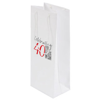 40 years of being awesome wine gift bag