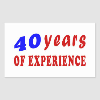 40 years of experience rectangle sticker