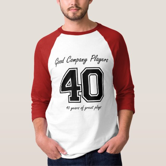 40 years of great plays t-shirt