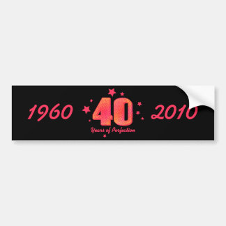 40 Years of Perfection Water Bottle Wrapper Bumper Sticker