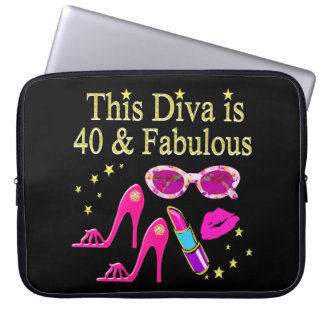 40 YEARS OLD AND A FABULOUS DIVA LAPTOP SLEEVE