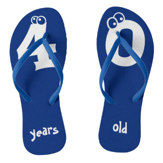 40 years old Cool Birthday Design Flip Flops