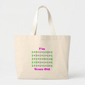 40 Years Old Magenta Gr Tote Bags