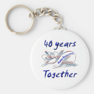 40 Years Together Key Chains