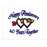 40 Years Together Postcard