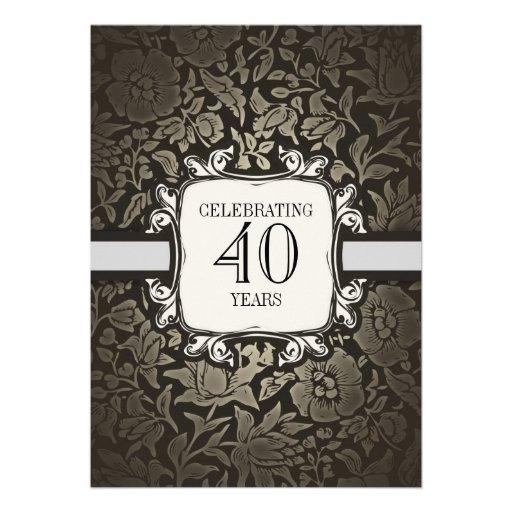 40 years wedding anniversary party invitations