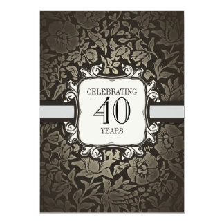 "40 years wedding anniversary party invitations 5"" x 7"" invitation card"