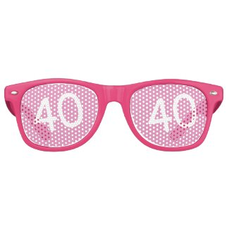 40 yr Bday Pink - 40th Birthday Retro Sunglasses